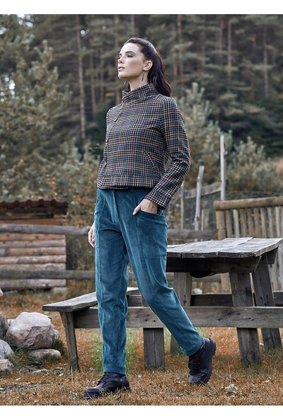 Clandestino Cep Detaylı Klasik Kesim Kışlık Pantolon Petrol