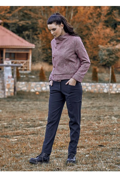 Clandestino Cep Detaylı Klasik Kesim Kışlık Pantolon Siyah