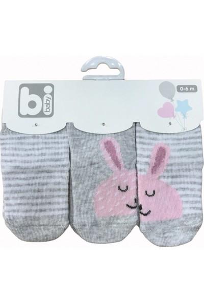 Bibaby Rabbit 3'lü Bebe Çorabı