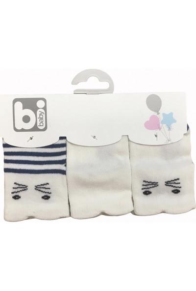 Bibaby Happy Boy 3'lü Bebe Çorabı