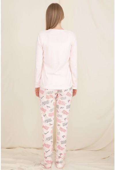 Wesha Bayan Pudra Pijama Takımı Wesha 4291-1