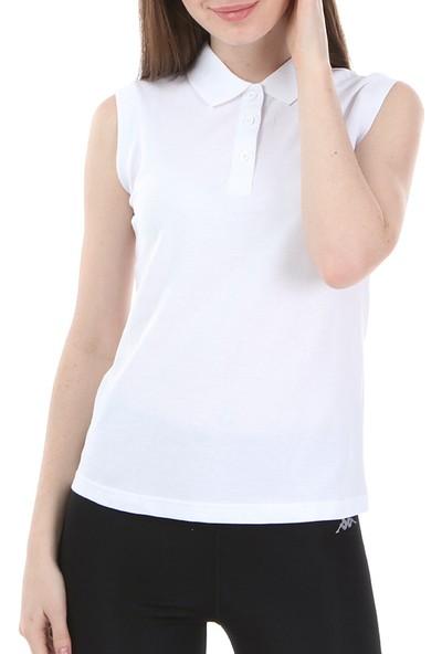 Kappa Rdk Kadın Kolsu Polo T-Shirt Wws Beyaz