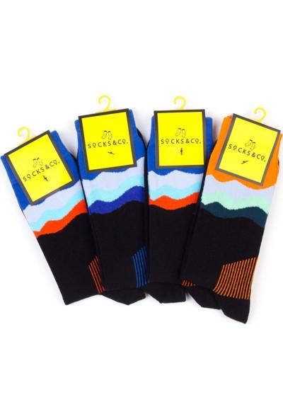 Socks&co 4'lü Yetişkin Erkek Çorap SC003