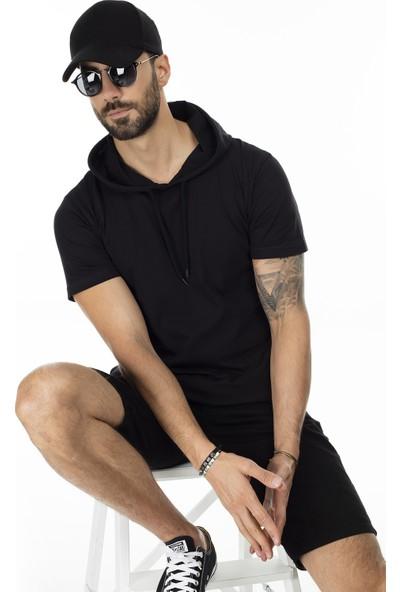 Buratti Slim Fit Kapüşonlu T Shirt Erkek T Shirt 5412021