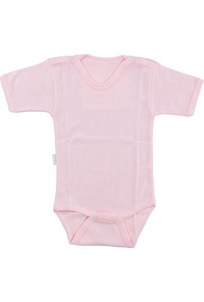 Bebek Somon Body Pamuklu Yarım Kol Çıtçıtlı Badi SB156