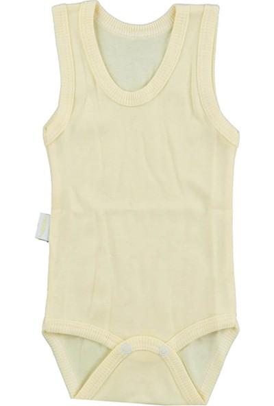 Bebek Sarı Body Pamuklu Askılı Çıtçıtlı Badi SB155