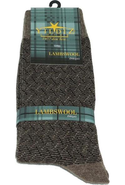 Yıldız Çorap Yıldız 6 Çift Vizon Lambswool Kışlık Erkek Çorabı
