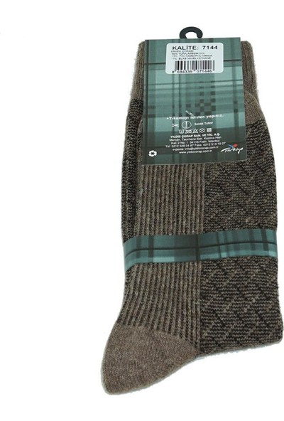 Yıldız 3 Çift Vizon Lambswool Kışlık Erkek Çorabı