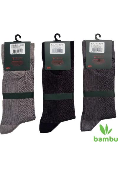 Yıldız 6 Çift Bambu Erkek Çorabı