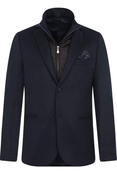 Kiğılı Dik Yaka Slim Fit Ceket