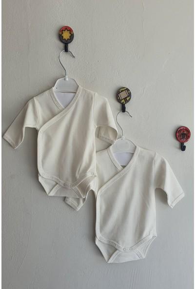 Cantaz Kız Erkek Bebek 0-6 Ay 2'li Kundaklı Body
