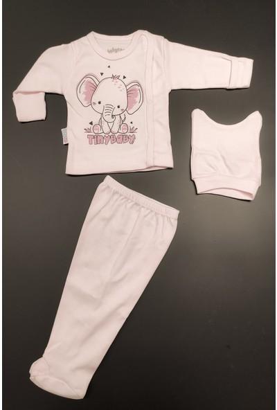 Babycan Kendinden Elvidenli 3 Parça Bebek Takımı