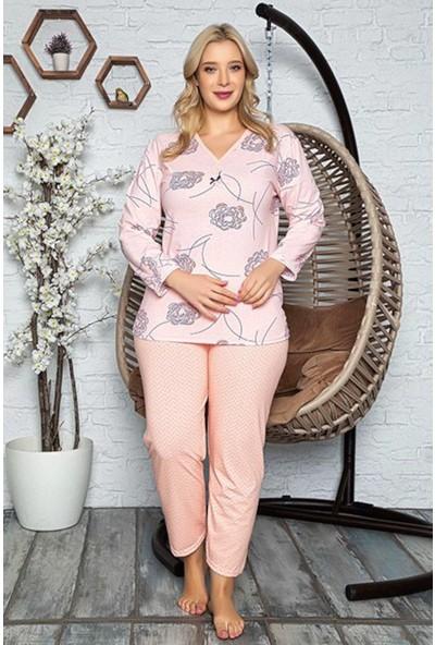 Rinda Çiçek Desenli Kadın Pijama Takımı