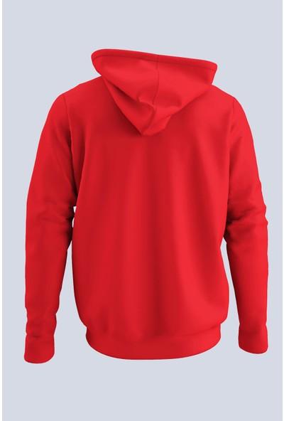 Nba Kırmızı Erkek Kapşonlu Sweatshirt - Hoodie