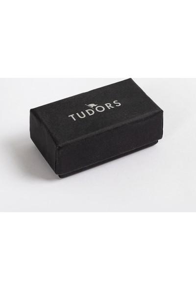 Tudors Köşeli Gri Kol Düğmesi