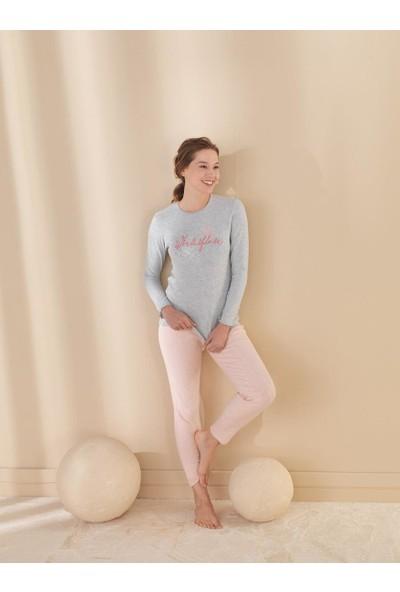 Efsi 1342 Bayan Uzun Kollu Pijama Takımı