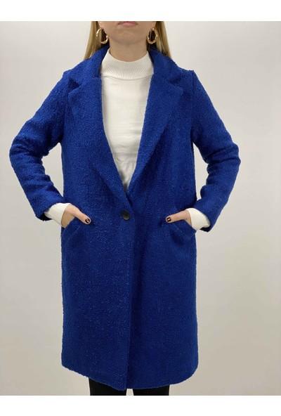 Axxel Güler Tekstil Kadın Giyim Tek Düğme Buklet Kaban