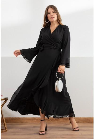 Melisita Aline Büyük Beden Elbise