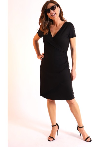 Melisita Nora Büyük Beden Penye Elbise