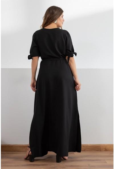 Melisita Perisa Büyük Beden Elbise