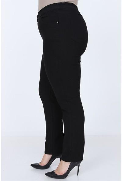 Yenikoza 1341P Kadın Jean Pantolon Büyük Beden Siyah