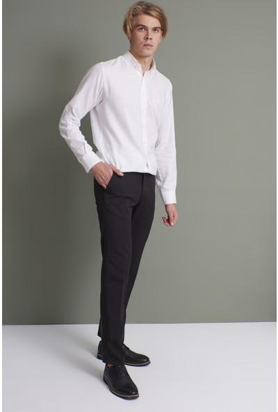 Tena Erkek Siyah Klasik Rahat Kalıpkumaş Pantolon