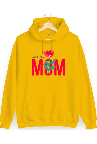 Tisho Love You Mom Baskılı Kadın Sweatshirt