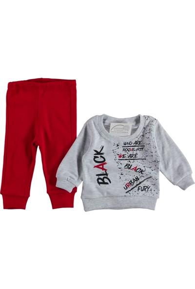 Mini Kids Black Baskılı Kırmızı 2li Erkek Takım