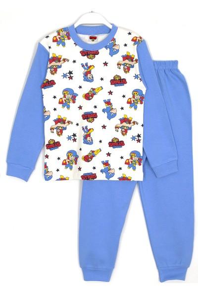 Brawl Stars Karakterleri Baskılı Erkek Çocuk Pijama Takımı