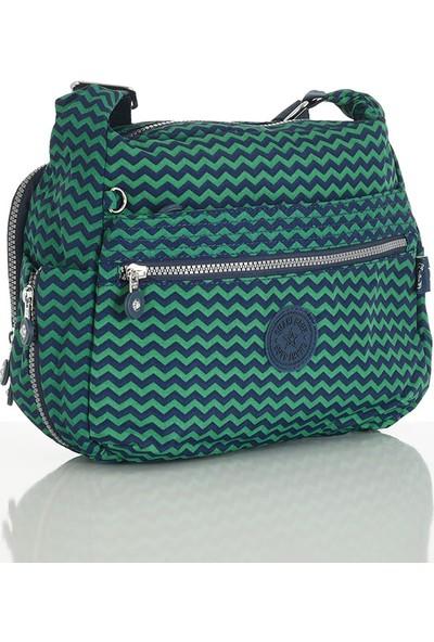 Smart Bags Lacivert-Yeşil Bayan Çapraz Çanta 1056-006