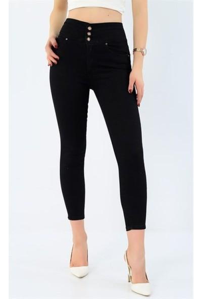 Gigi Gigigiyim Siyah Yüksek Kemer Kot Pantolon