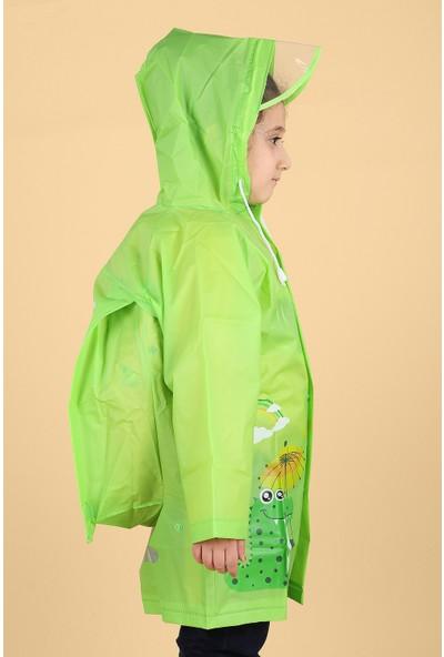 Sanbe 905 S 7001 % 100 Eva Erkek Çocuk Su Geçirmez Yağmurluk Yeşil
