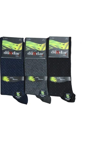 Dündar Erkek Plus Bambu Çorap Karışık Renk 3'lü