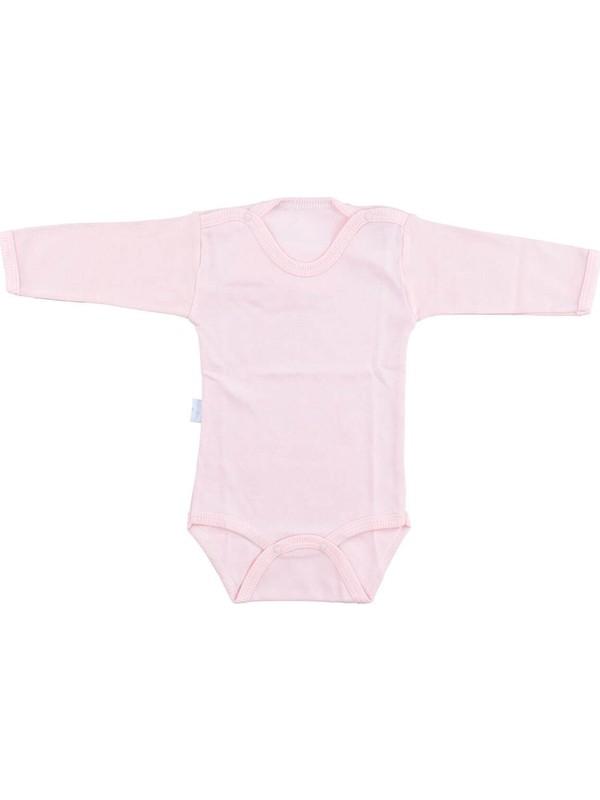 Bebek Somon Body Pamuklu Uzun Kol Çıtçıtlı Badi SB157