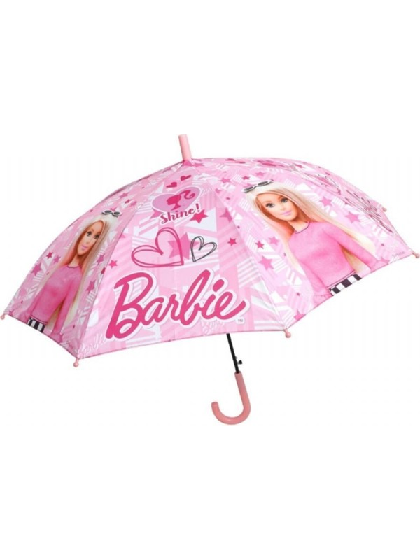 Frocx Lisanslı Barbie Shine Pink Çocuk Şemsiyesi