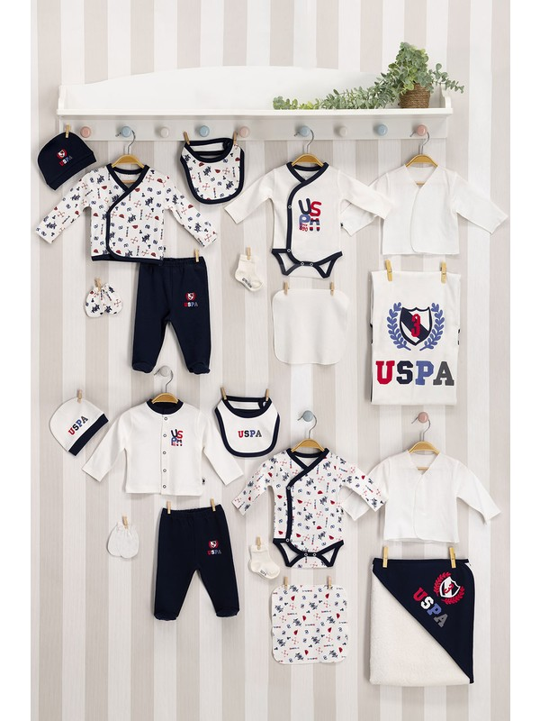 U.S. Polo Assn. U.s. Polo Assn Lisanslı Krem Bebek 20'li Hastane Çıkış Seti