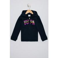 U.S. Polo Assn. Kız Çocuk Lacivert Sweatshirt Basic 50223873-Vr033