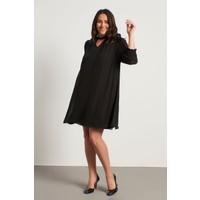 Myline Yaka Detaylı Gipeli Şifon Elbise