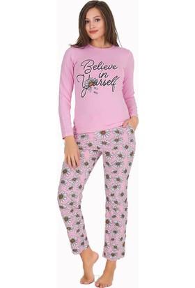 Berland 3314 Kadın Kışlık Modal Pijama Takım