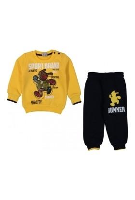 Yavrucak Sport Brand Baskılı Erkek Bebek Takım
