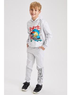 DeFacto Erkek Çocuk Kral Şakir Lisanslı Lisanslı Kapüşonlu İçi Yumuşak Tüylü Sweatshirt S9552A620WN