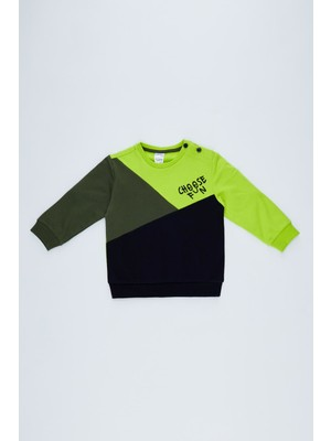 DeFacto Erkek Bebek Regular Fit Tekli Sweatshirt T0272A220WN