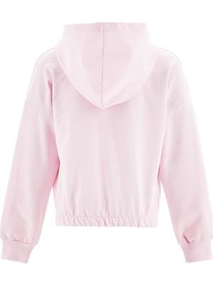 DeFacto Kız Çocuk Yazı Baskılı Kapüşonlu Sweatshirt T5794A620WN