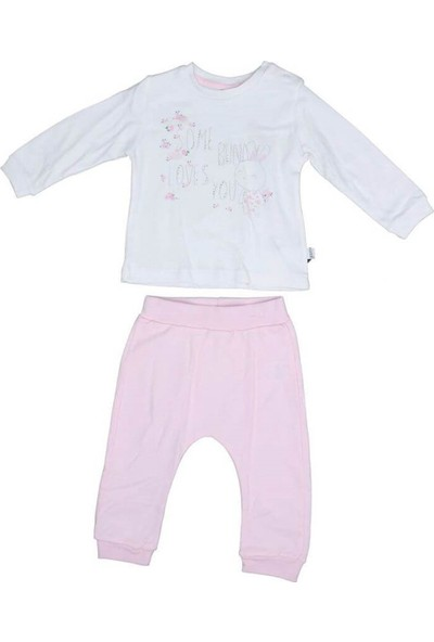 Sebi Bebe 1013 Kız Bebek Pembe Pamuklu 2'li Takım