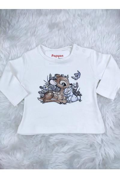 Papyon Baby Kids Hugs Nakışlı Kapüşonlu Hırkalı Kız Bebek 3'lü Takım