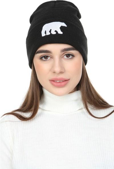 Genıus Store Unisex Bere/şapka Nakış Detaylı Hayvan Figürlü Bere
