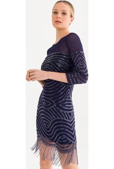 adL Kadın Boncuk Işlemeli Elbise
