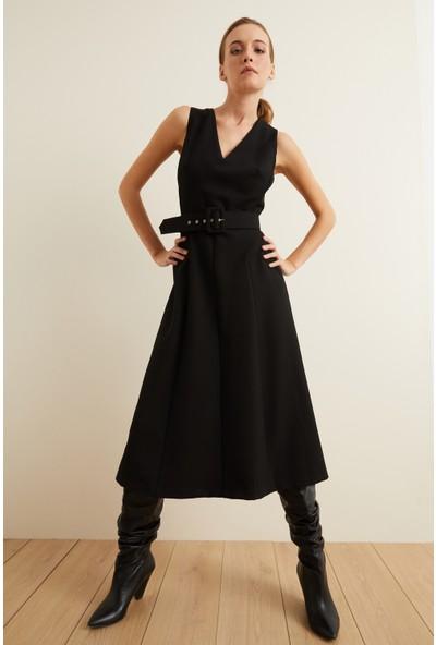 adL Kadın Kemerli Kolsuz Kuplu Elbise