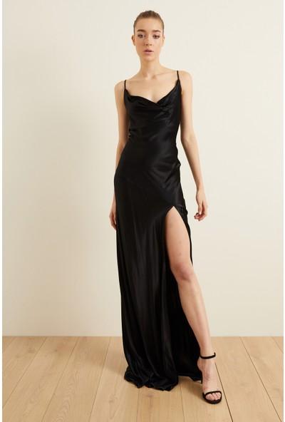adL Kadın Askılı Slip Saten Elbise