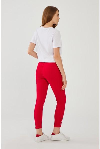 adL Kadın Paça Detaylı Pantolon